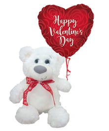 So soft and sweet, this cuddly bear will deliver your Valentine wishes with style.