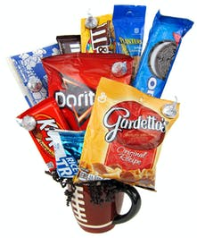 Snacks in a sports themed mug will make their day. Call Zeidler's.