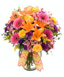 Stunning Spring mix of bright colors and flowers.