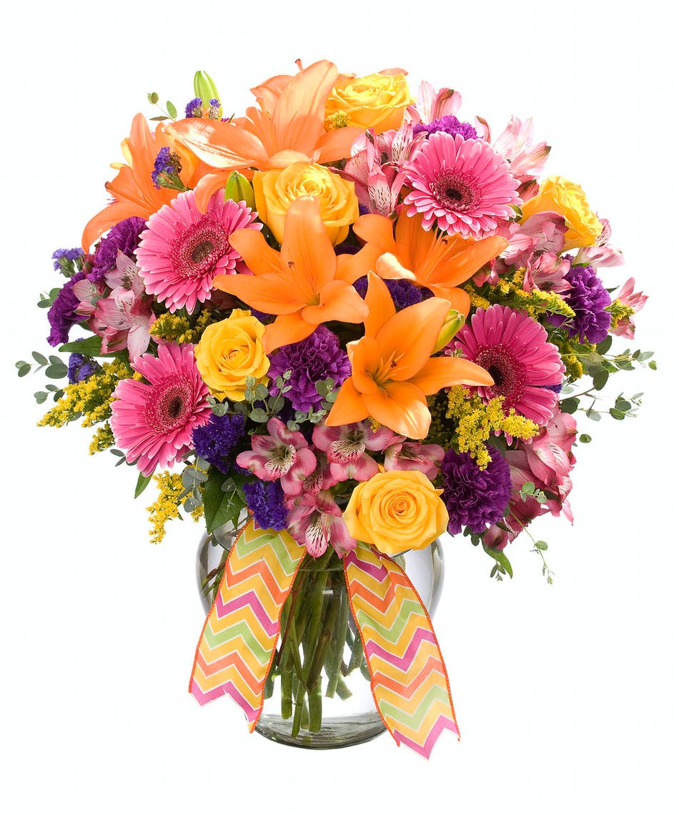 Symphony in color delivered by zeidlers flowers stunning spring mix of bright colors and flowers mightylinksfo