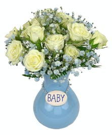 A lovely gift to send to the hospital or home to celebrate the new baby boy!