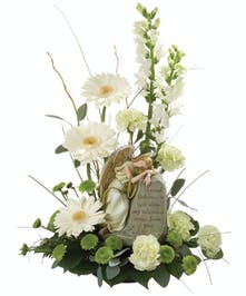 Flowers and a gift, for expressions of sympathy.
