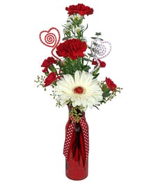Show up with this Red Hot bouquet and make them smile.