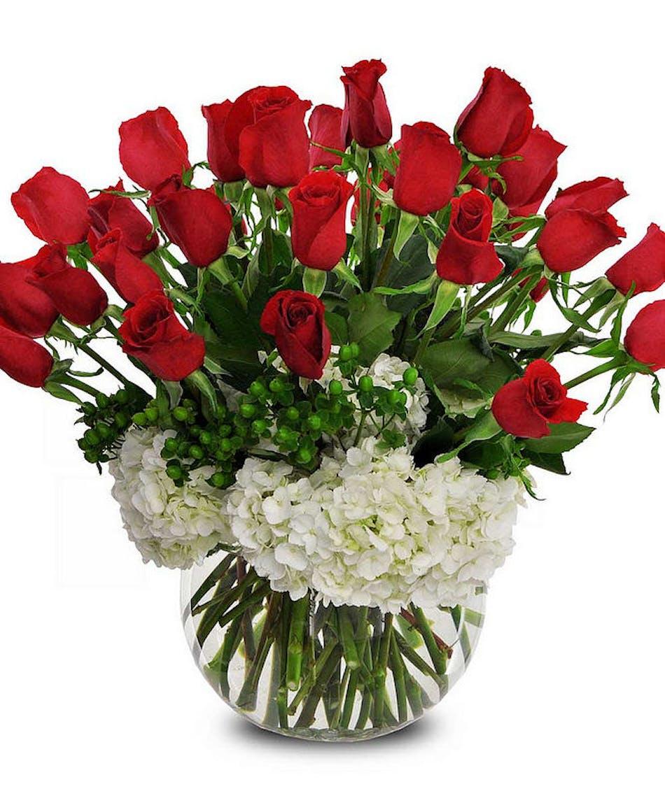 Roses & Hydrangea designed by Zeidler\'s Flowers | Evansville Indiana