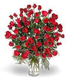 Unforgettable, sixty long stemmed red roses, an amazing bouquet.