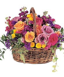 Heavenly Garden - Fresh Basket Arrangement