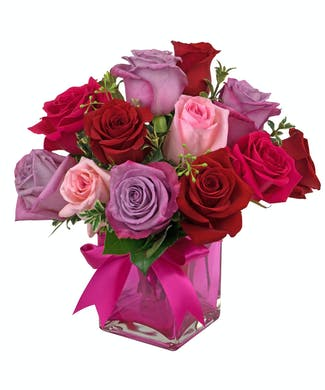 Romantic Rose Cube