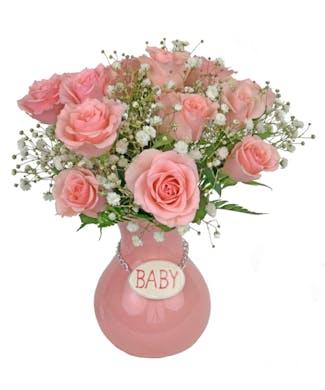 Baby Girl Vase
