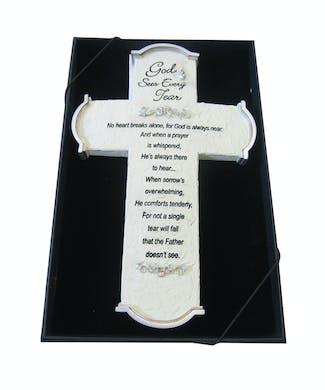 God Sees Every Tear Cross