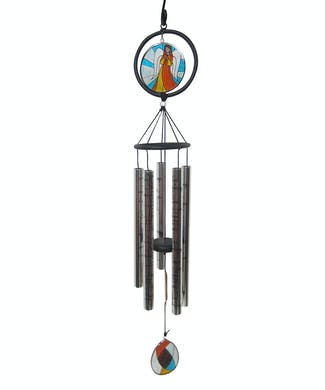 Stained Glass Sonnet Windchime - If Tears