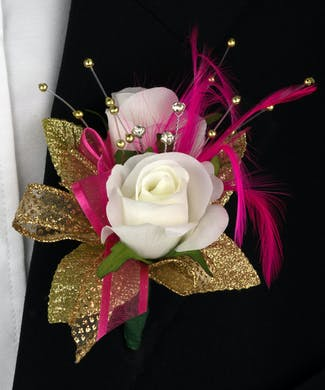 Shimmer Boutonniere