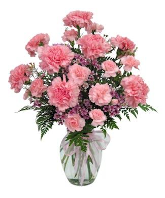 Cherish - Carnation Vased Bouquet