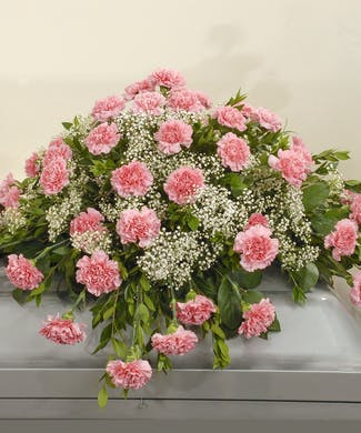 Cherish - Carnation Casket Spray