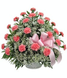 Cherish - Carnation Floor Basket