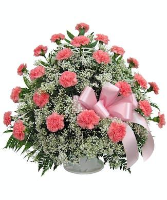 Cherish - Carnation Floor Basket