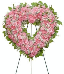 Cherish - Carnation Heart Shaped Wreath
