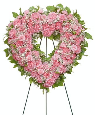Cherish - Carnation Heart Shaped Wreath