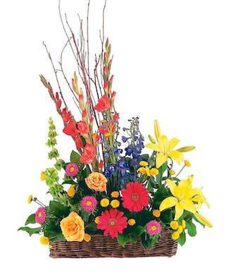 Heavenly Garden - Fresh Basket Arrangement
