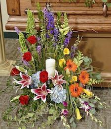 Heavenly Garden - Arrangement with Candle