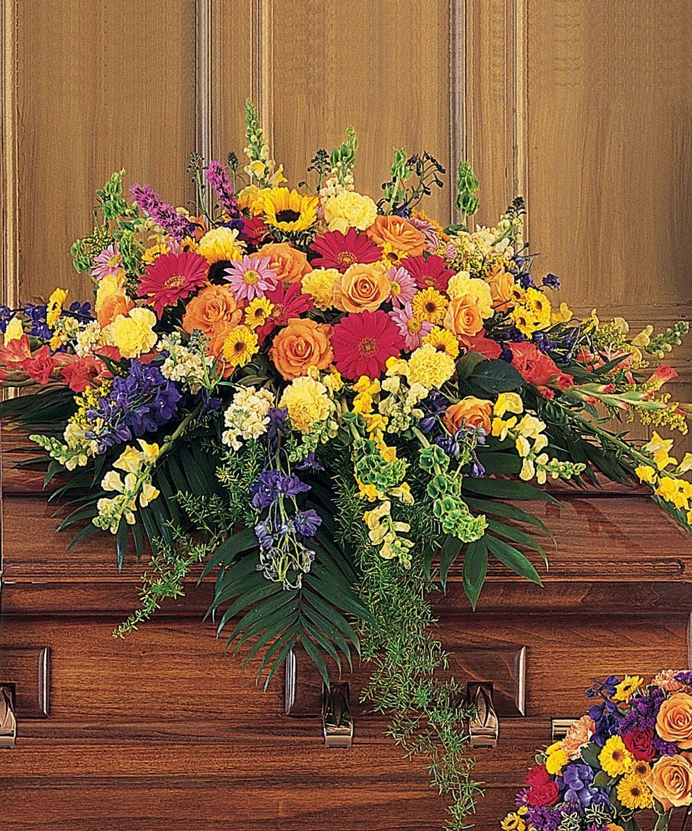 heavenly garden - casket spray