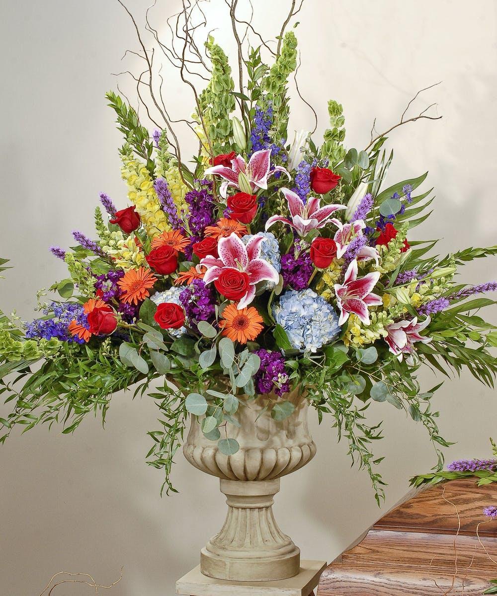 heavenly garden - urn arrangement