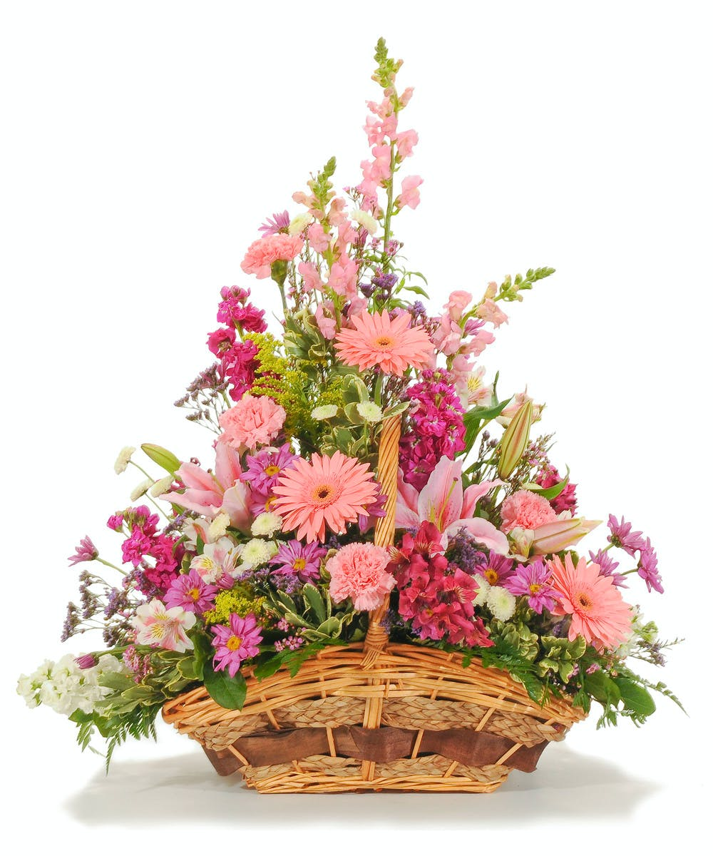 Loving sentiments basket arrangement evansville florist