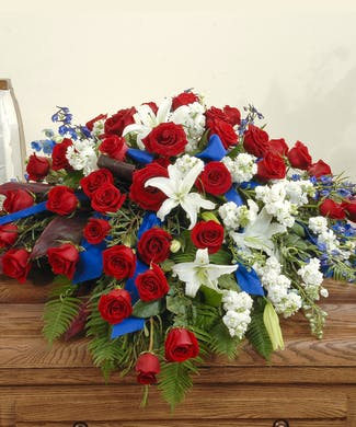 Patriotic - Casket Spray