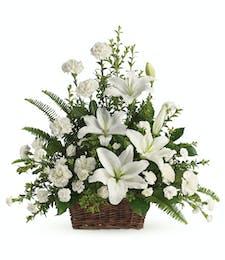 Serenity - Fresh Arrangement in Basket