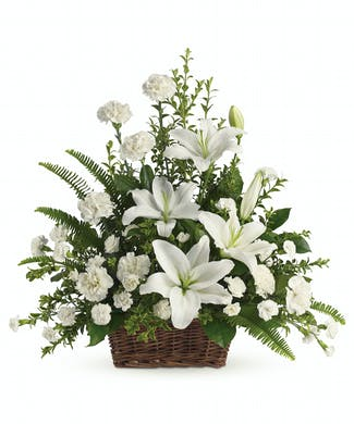 Serenity - Fresh Arrangement in Basket
