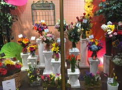 A close look at the lovely bouquets, chilling in our walk-in cooler