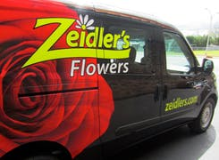 A Zeidlers-branded delivery van awaits your next order